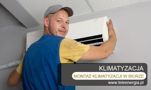 montaz klimatyzacji w biurze